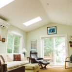 Rethink Design Architecture - home addition, living room with high ceiling